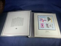 F5-9 Mint Souvenir Stamp Sheets Of The World - In Binder - 30 Items