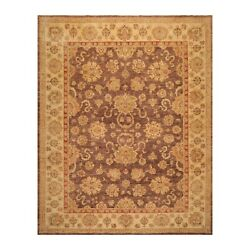 9and0391and039and039x 11and0393and039and039 Hand Knotted Vegetable Dyes Peshawar Oriental Area Rug Aubergine