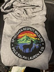 Polo Sportsman Respect Wildlife Great Outdoors Hoodie Large L