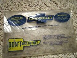 1969-1972 Chevelle Factory Gm Original Owners Manual Glovebox Bag For Literature