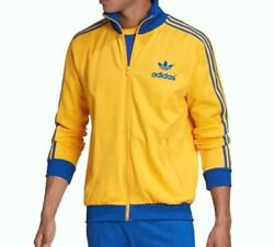 New Menand039s Adidas Originals 70and039s Archive Trefoil Track Jacket Size Large Ge0852