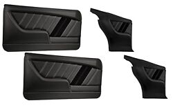 Sport R Molded Door And Quarter Panel Set - Black - For 1967 Camaro By Tmi
