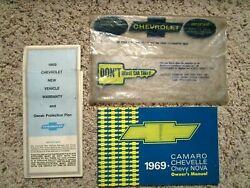 1969 Chevelle Ss Gm Factory Original Owners Manual Set 136379g Car Sold In Pa.