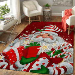 Rugs For Living Room - Merry Christmas Santa Claus Gift Decor Carpet For New Yea