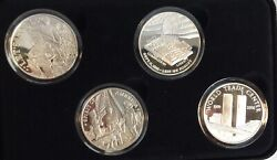 United We Stand 4 Coin 9-11 Commemorative Set 4- 1 Ounce .999 Silver Rounds