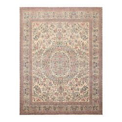 8and039 X 9and03911 Hand Knotted 100 Wool Pak-parsian 16/18 300 Kpsi Area Rug Ivory 8x10