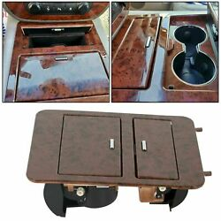 Woodgrain Center Console Cup Holder/storage Full Size Trucks And Suvand039s