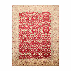 8' X 10'4'' Hand Knotted 100 Wool Peshawar Oriental Area Rug Pomegranate