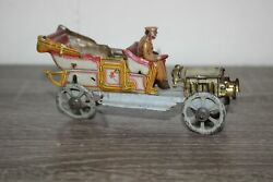 Antique Germany Tin Litho Penny Toy Roadster Car Auto Meier