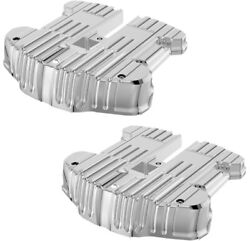 Rough Craft Chrome Grooved Rocker Box Cover Rc-610-001 Harley M8 Motor 17-up