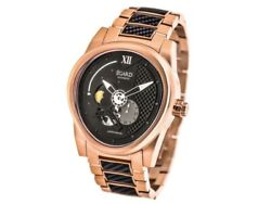 Egard Rose Gold Tone And Black Dial 43mm Automaticmens Watch