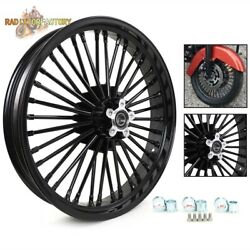 21x3.5 Front Wheel 36 Fat Spokes For Harley Dyna Fxdl Fxdf Softail Flstc Fxstc