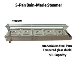 Food Equipmentcommercial Buffet Food Warmer W/5 Pcs Stainless Pans Durable