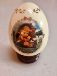 Collection Of 12 Danbury Mint Hummel Porcelain Eggs With Stands And Certificates