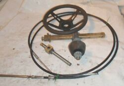 1985 Four Winns 195 Cuddy Mercruiser 140 Hp 3.0l Steering Cable W Wheel And Helm