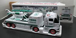 Hess Oil Company 2006 Toy Truck And Helicopter-model-vintage - New In Box-lights