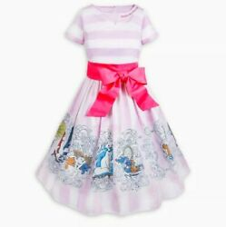 Disney The Dress Collection The Aristocats Marie Pink Striped Dress S-xl Nwt