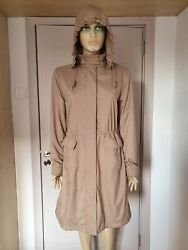 Loro Piana Storm System Beige Taupe Trench Coat With Hidden Hood Size 44