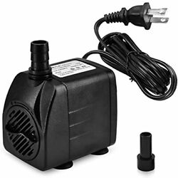 220 Gph Small Fountain Pump, Ultra Quiet Submersible 15w 800l/h For Pond, Home