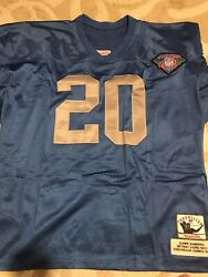 Barry Sanders And03994 Mitchell And Ness Thanksgiving Jersey Sz 56 Super Rare 75th Ann.