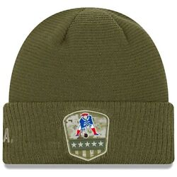 New England Patriots Nfl New Era Salute To Service Sideline Beanie Knit Hat
