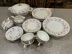 Vintage Rosenthal Winifred Helena Selb Germany 3630 25 Pieces. Pink Flowers