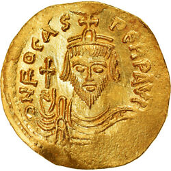 [890497] Coin Phocas Solidus 602-610 Constantinople Ms Gold Sear620