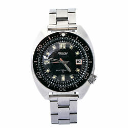 Seiko Diverand039s 6105-8000 Automatic Vintage Menand039s Watch Year1969 Ss 40mm