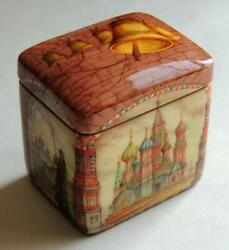 Signed Fedoskino Lacquer Miniature Box Alexey Chirkov Russian Moscow Painting