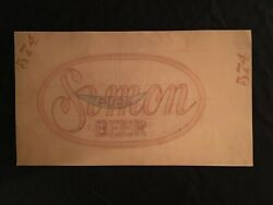 1940's Buffalo Simon Pure Beer Brewery Co. Embroidered Patch Original Artwork