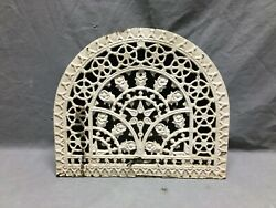 Antique Cast Iron Arched Top Heat Grate Wall Register Floral 11x13 Vtg 1312-20b