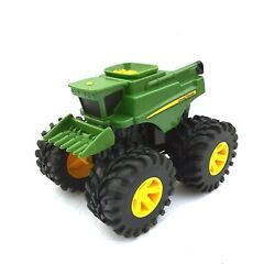 John Deere Monster Treads Combine Tomy Plastic Toy For Parts/non-working