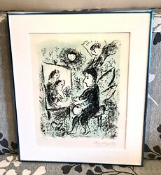 Vintage Marc Chagall Russian-french Lithograph Andldquotowards Another Lightandrdquo W/coa Old