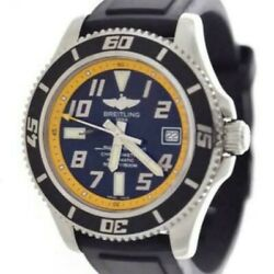 Breitling Super Ocean 42 A17364 Automatic Black Stainless Rubber Round Mens 433
