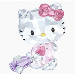 New In Box Authentic Crystal Hello Kitty Traveler Figurine 5279082