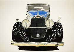 Hispano Suiza 20x30 Signed Numbered Giclee Print By Richard Lewis