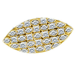Oval Diamond Ring In 14k Yellow Gold. 0.93 Cts In Pave Set Diamonds. Size 7.