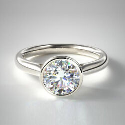 0.70 Ct Real Diamond Engagement Beautiful Ring Solid 950 Platinum Size 5 6 7 8 9