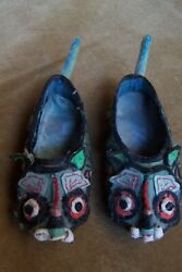 Chinese Shoes-very Small-4 Long-beautiful Hand-bound Feet