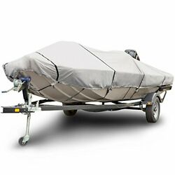 Budge 600 Denier Boat Cover Fits Center Console Flat Front/skiff/deck Boats B...