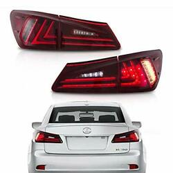 Mostplus Tail Lights Compatible For Lexus Is350 Is250 2006-2012 Set Of 2 Red ...