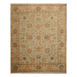 8and039 X 10and039 Hand Knotted 100 Wool Agra Oriental Area Rug Aqua 8x10