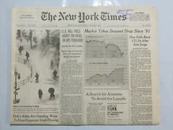 The New York Times 1996 March 9 Market Steepest Drop Dow Falls Arafat Israel Dx