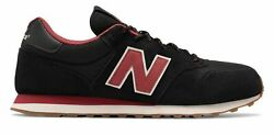New Balance Men#x27;s 500 Classic Shoes Black with Red