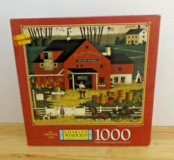 Vintage Nos Charles Wysocki's Brooms Brushes And Barrels 1000 Piece Puzzle Seald