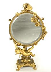 French Gilt Bronze Table Mirror