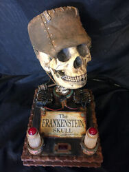 Frankenstein Skull Prop- Life-size Steel Edition And Remote Controlled Lighting