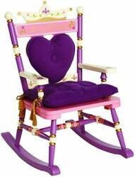 Princess Rocking Chair Childrens Bedroom Furniture Pink Purple Painted Wooden