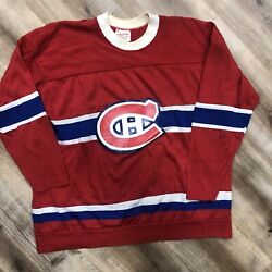 Montreal Canadiens Nhl Hockey Vintage 60s Rawlings Durene Jersey Youth Xl