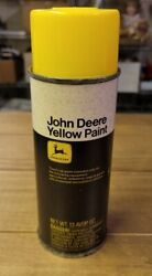 Vintage John Deere Spray Paint Can With A Paper Label Yellow Untested